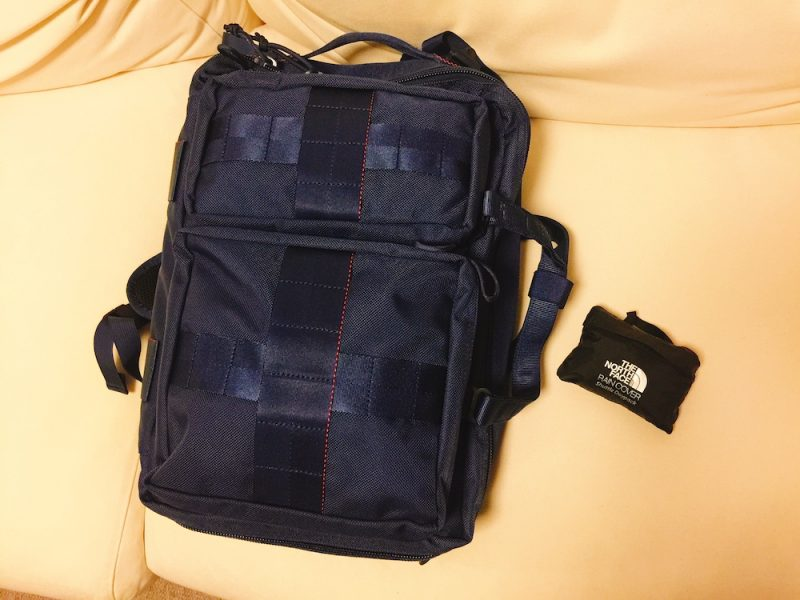 "レインカバー装着 BRIEFING×BEAMS PLUS / 別注 ""3WAY BAG""NAVY"
