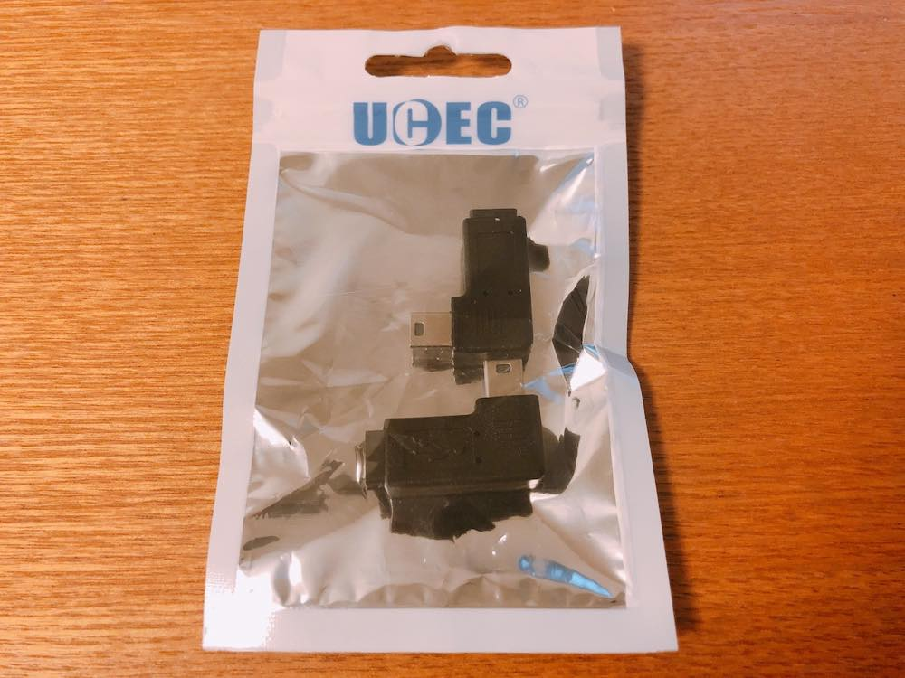 USB変換アダプタL字