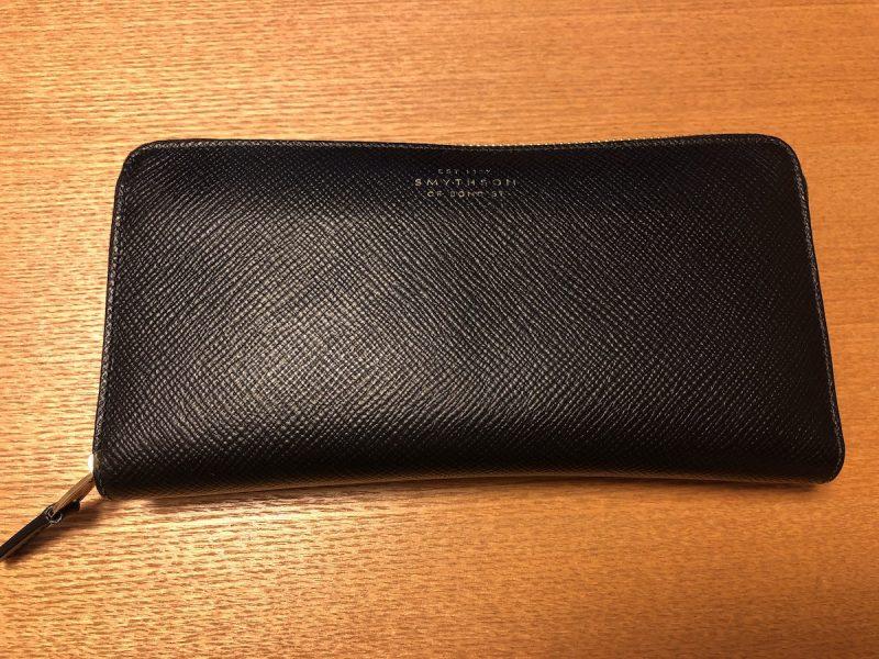 スマイソン長財布の表面