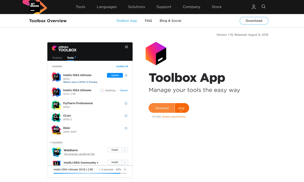 JetBrains Toolbox official site