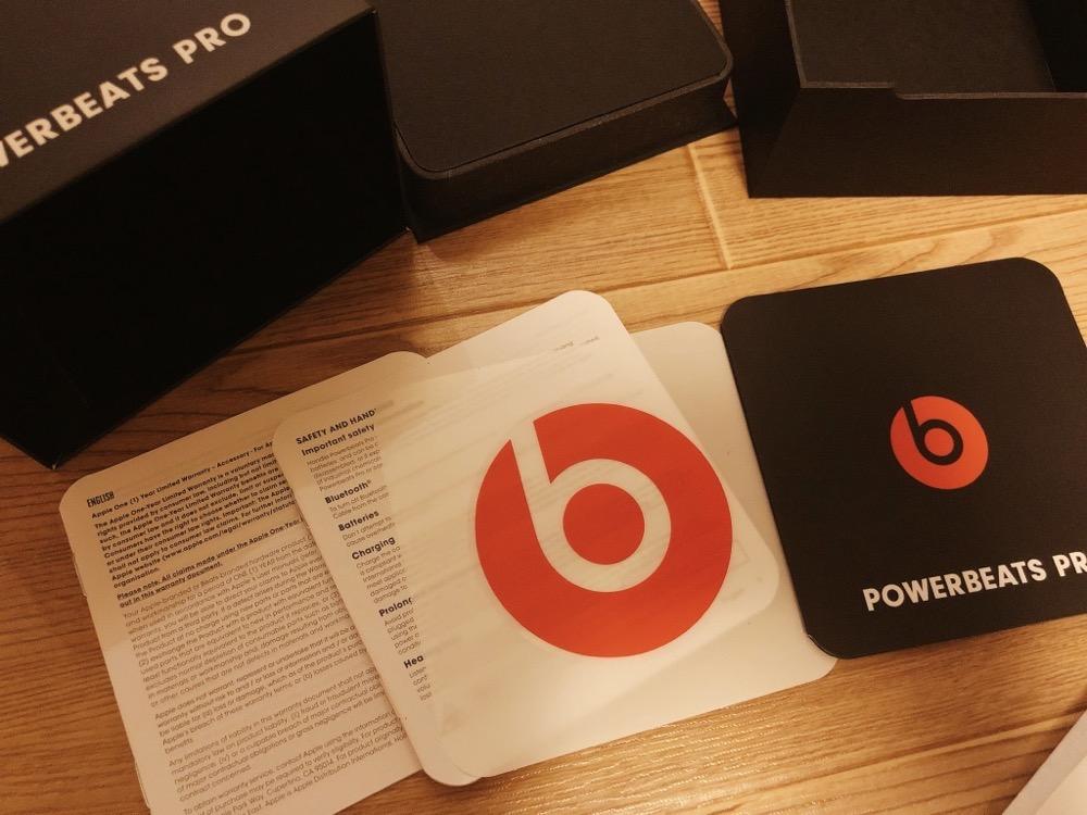 Powerbeats Proの説明書とシール